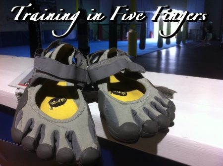 How do I know if I can train in a five finger shoe?